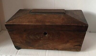Lovely Vintage Box Long Tea Caddy Oak, Real Quality Please See Pictures