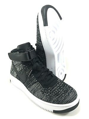 Nike Air Force 1 Ultra Flyknit Mens 7 OREO Black White Shoes 817420-004 NEW