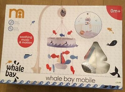 Mothercare Whale Bay Musical Cot Mobile ** Bnib **