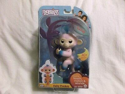 WowWee Fingerlings - Two Tone Baby Monkey BRAND NEW SEALED Candi pink blue