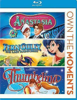 Anastasia FernGully Thumbelina (Blu-ray Disc, 2013) 3 movie set