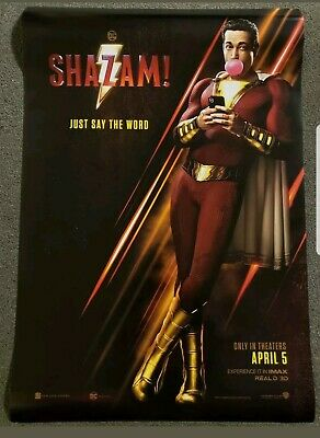 Shazam 27x40 Double Sided Movie Theater Poster DC! ORIGINAL!!
