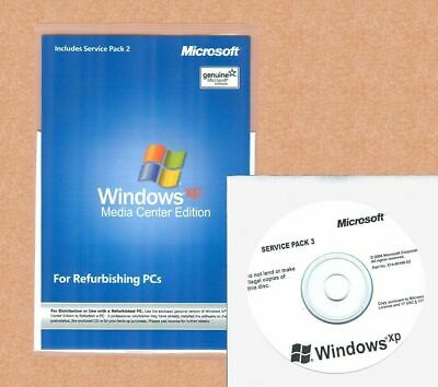 SEALED Windows XP Media Center Edition 2005 SP3 Install Reinstall Disc Repair CD