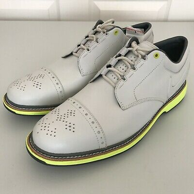 100% authentic ed6b8 8d82c NEW Nike Mens Lunar Clayton Golf Shoes White Venom Green Sz 12 (628535-100