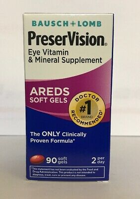 Bausch lomb preservision areds Soft Gels 90 Exp 11:19+ New