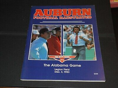 Dec. 3, 1983 Auburn Tigers vs Alabama Crimson Tide football program (Iron Bowl)