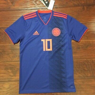 newest 11847 7d4d5 ADIDAS JAMES RODRIGUEZ Colombia Away Jersey World Cup 2018 ...