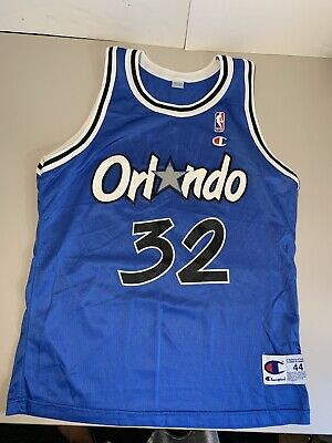 eb1feedb12c Vintage Shaquille Oneal Orlando Magic Size 44 Mens Champion Shaq Nba  32  Jersey