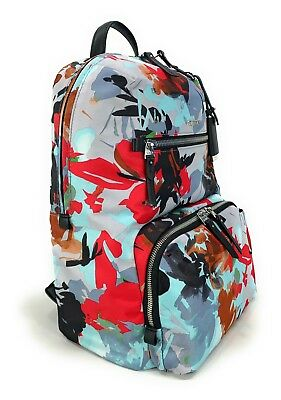 b5707bd8b Tumi Voyageur Halle Laptop Business Backpack Blue Pacific Floral 484758PFP