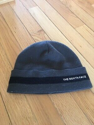 a05e2cb089b THE NORTH FACE Beanie Black gray Stocking Cap Hat -  3.99