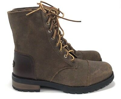 501897ba859 UGG WOMEN'S KILMER II Leather Chipmunk Lace Up Military Style Boots M1095131