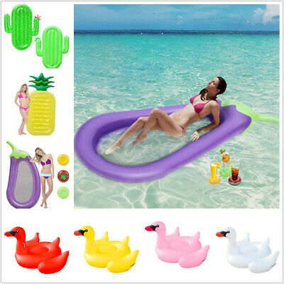 GIANT SWIMMING POOL Float Inflatable Chair Floating Lounger Raft Swan  Cactus Toy