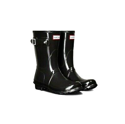 5c947d60a82 HUNTER WOMEN'S ORIGINAL Short Rain Boots -Black Medium Size -10 New In Box