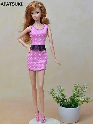 """Pink Fashion Doll Clothes Fitting Mini Dress For 11.5"""" Dolls 1/6 Party Dresses"""