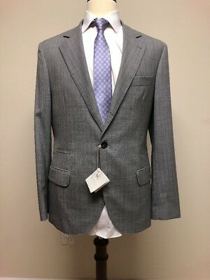 $3995 New Brunello Cucinelli Mens Light Gray Wool Blazer Jacket 38 US 48 IT