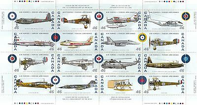 Canada 1999 Airplane 75th anniv of the RCAF stamp pane of 16 stamps CA157145