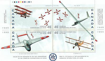Canada 1999 Airplane 50th anniv of the Canadian Int'l Air Show MS CA157143