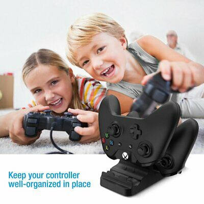 Dual Charging Dock Controller Charger+2pcs Rechargeable Batteries for XBOX ONE Y