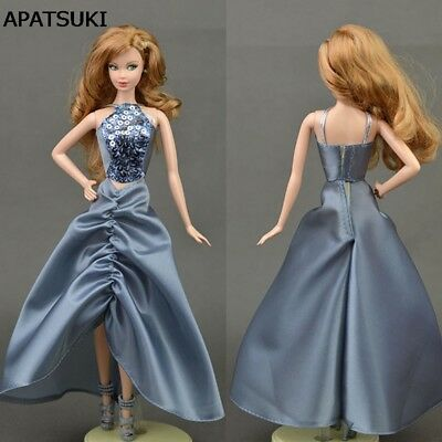 "Grey Sequin 1/6 Doll Clothes For 11.5"" Doll Evening Gown Wedding Party Dresses"
