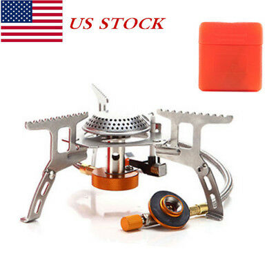 3500W Portable Gas Stove Butane Propane Burner Camping Hiking Outdoor USSAL