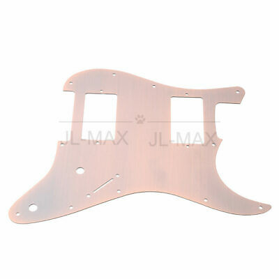 Aluminum alloy Guitar HH Pickguard 11 Holes for Fender Strat Guitar