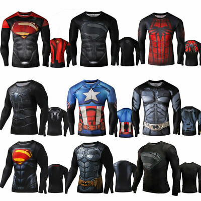 Men Long Sleeve Muscle Training Tops Cycling Sport Fitness Tee T-Shirts Blouse