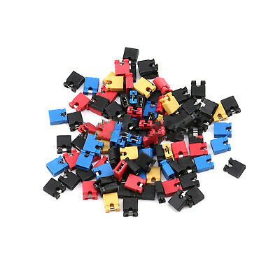 10~200pcs 2mm Jumper Cap Pin Header Links Circuit Board Shunts Black Open Type