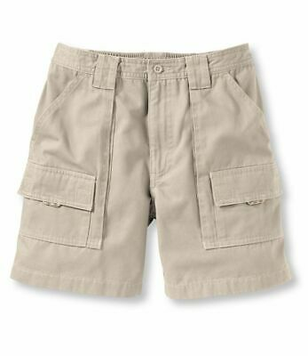 900fa85afe7d6 LL Bean Mens Pathfinder Cargo Beige Outdoor Fishing Hiking Shorts Size 38  NWOT
