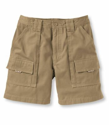 21c8cf1f891d6 LL Bean Mens Pathfinder Cargo Khaki Outdoor Fishing Hiking Shorts Size 38  NWOT