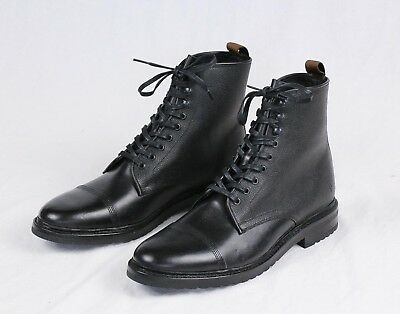 88099bda5aae1 FRYE MENS NEW Black Leather Officer Lace Up Boots Size 9 D NWOB $378
