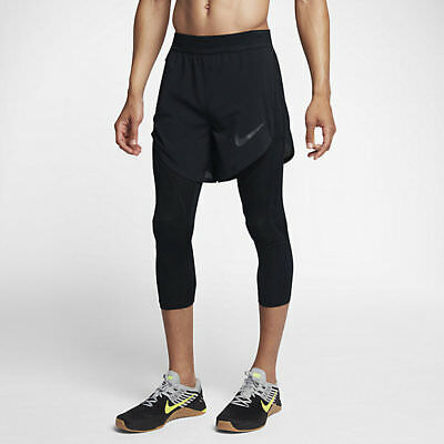 6b3c41315a01 NWT  150 NIKE Pro Flex 2-IN-1 Men s Training Shorts in Black 840095 ...