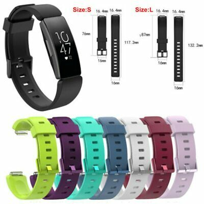 Silicone for Fitbit Inspire/Inspire HR Sports Bracelet Strap Fashion Band S / L