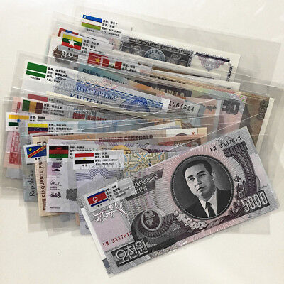 50 foreign banknotes, not repeated, all UNC real money free shipping !!