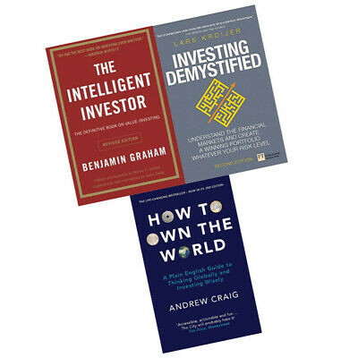 Intelligent Investor,How to Own the World 3 Books Collection Set BRAND NEW