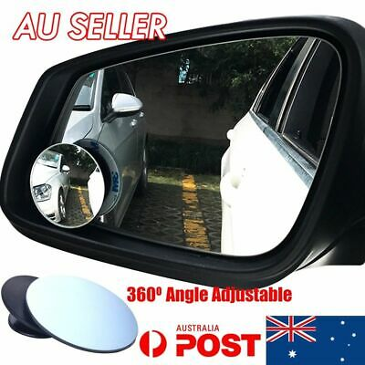 Car Rearview Side Rear View Adjustable Blind Spot Removal Mirror (2pcs) OD