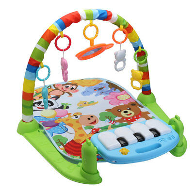 3 in 1 Baby Play Mat Rug Kid Infant Crawling Education Toys Rack Carpet