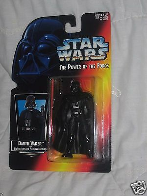 1995 Star Wars POTF Darth Vader Long LightSaber Kenner Power of the Force figure