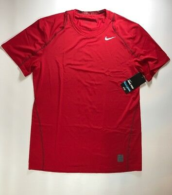 1ed93b5e MEN'S NIKE PRO Red Dri Fit Fitted Shirt Size Large NWT 703104 687 ...