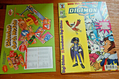 1x DIGIMON +Beilage[Digital Monsters] Aug 2001 NUMMER 20.BAND +STICKER +Stundenp