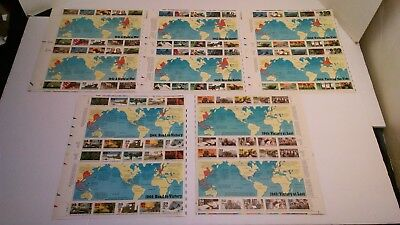US Stamp Sheets # 2559 2697 2765 2838 2981 WWII Complete Set 5 FULL Sheets MNH