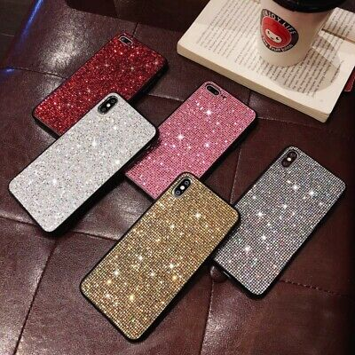 Bling Glitter Diamond Shockproof Case Silicone Cover For iPhone XS Max XR 8 Plus