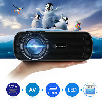 HD Smart Android Projector Home Cinema LED Movie Video 1080p HDMI