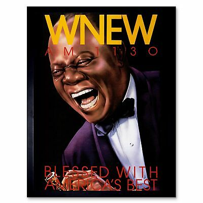 Music America Best Wnew Radio Station Louis Armstrong Legend 12X16 Framed Print