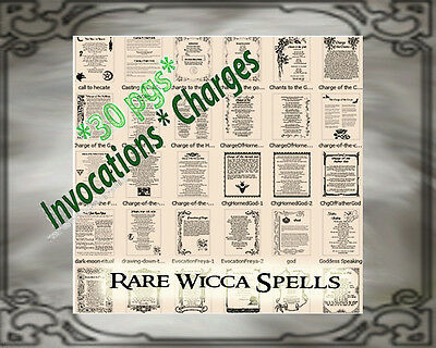 38 PAGES LAWS Runes Redes Spells Wicca Book of Shadows