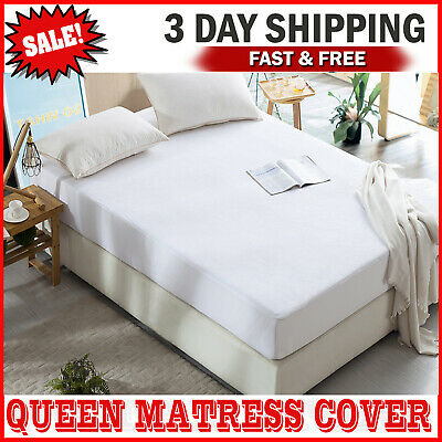 MATTRESS COVER PROTECTOR Waterproof Pad Queen Size Bed Hypoallergenic Cotton NEW
