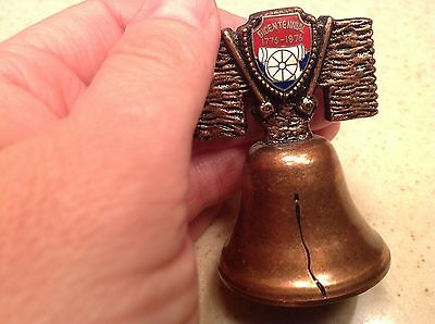 Vintage Bicentennial Liberty Copper Colored Bell 1776-1976