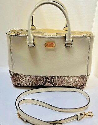 a8cb7817a202 MICHAEL MICHAEL KORS Kellen Dark Taupe Saffiano Leather Medium ...