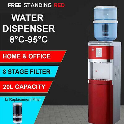 New Awesome Aimex Water Cooler Chiller Hot Cold Ultra Pure Floor Standing Red