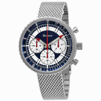 AUTHORIZED DEALER Bulova 96K101 Men's Chronograph Stainless Steel 46mm Watch