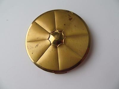 Vintage Tussy 1950's  Ladies Brass Powder Compact with Powder Puff